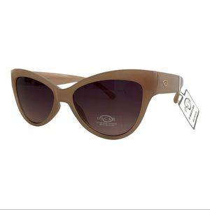 NWT OSCAR DE LA RENTA Blush Tan Frame Sunglasses